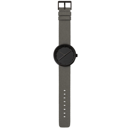 LEFF Amsterdam Tube Watch D42 Black Grey Cordura (LT72015)