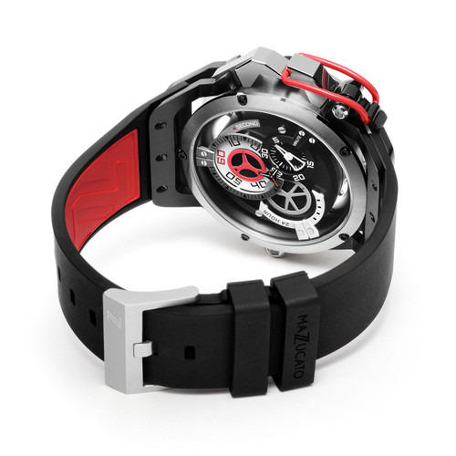 Mazzucato RIM Automatic Black Red (RIM-01-BK186)