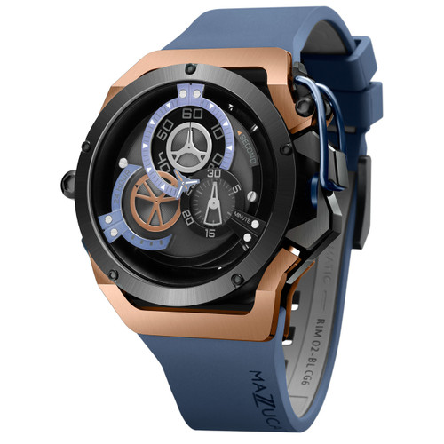 Mazzucato RIM Automatic Rose Gold Blue (RIM-02-BLCG6)