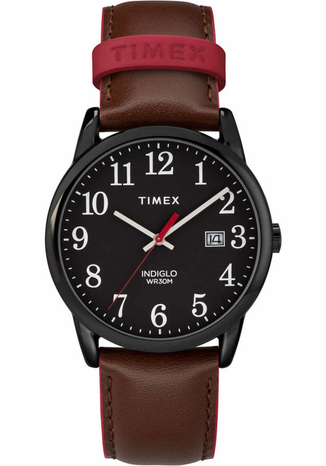 Timex Easy Reader Color Pop Black Brown (TW2R62300)
