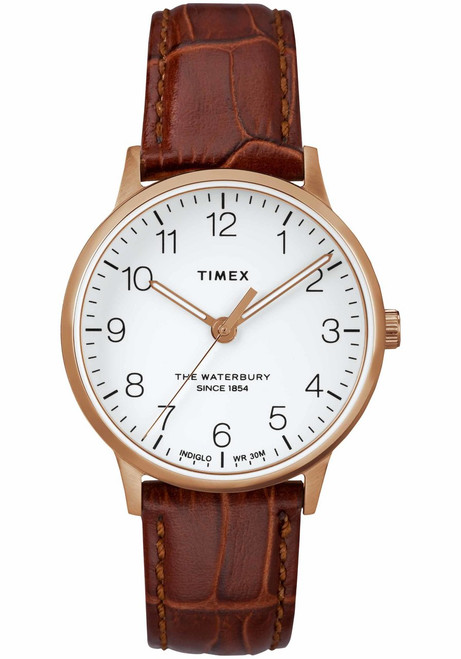 Timex Waterbury Classic 36mm Rose Gold Brown (TW2R72500)