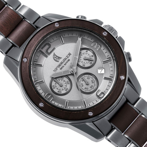 Spinnaker Vessel Chrono Steel Sandalwood (SP-5027-99)