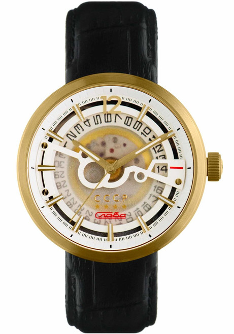 CCCP Kashalot Dress Automatic Gold Black (CP-7008-07)