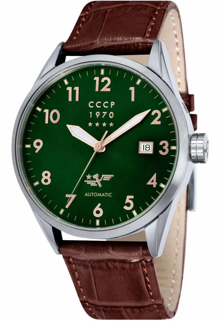 CCCP Golden Soviet Submarine Automatic Silver Green Brown (CP-7015-06)