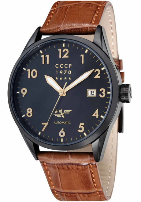 CCCP Golden Soviet Submarine Automatic Black Brown (CP-7015-09)