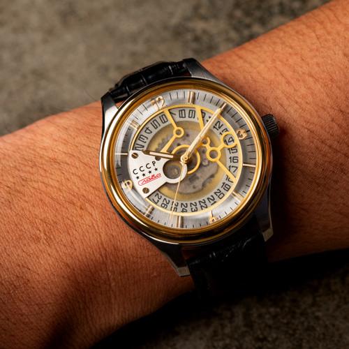 CCCP Sputnik-2 Automatic Silver Gold Black (CP-7026-08)