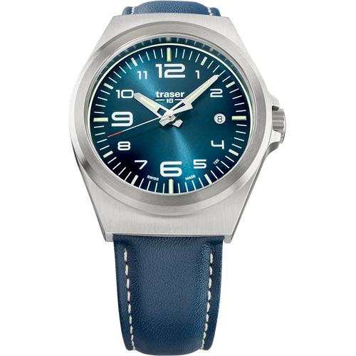 Traser P59 Essential M Swiss Tritium Blue Leather (108214)