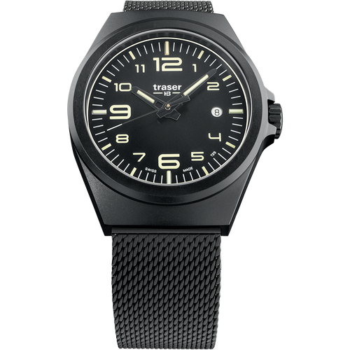 62691f51e47 Traser P59 Essential M Swiss Tritium All Black Mesh (108206) ...