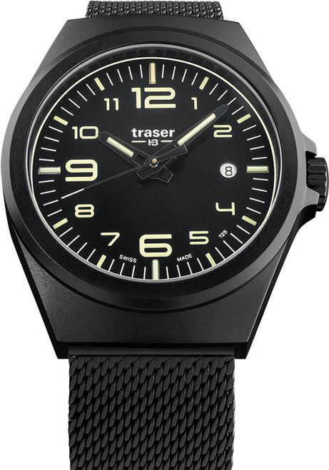 Traser P59 Essential M Swiss Tritium All Black Mesh (108206)