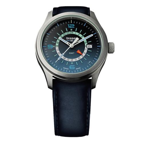 Traser Aurora Swiss GMT Tritium Blue (107035)
