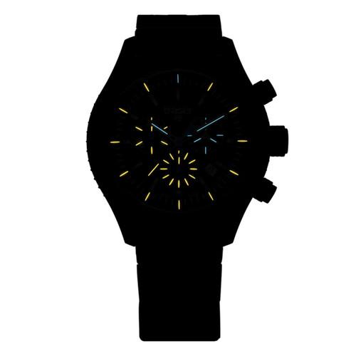 Traser Aurora Swiss Chronograph Tritium Steel Black (106833)
