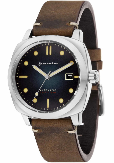 Spinnaker Hull Automatic Brown Blue (SP-5059-01)