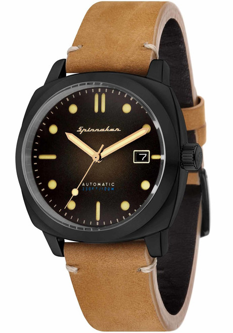 Spinnaker Hull Automatic Tan Black (SP-5059-04)