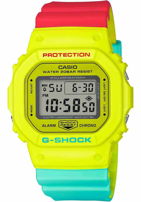G-Shock DW5600 Neon Rasta Edition (DW5600CMA-9