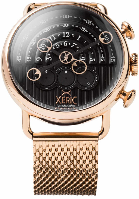 Xeric Halograph Chrono Sapphire Mesh Rose Gold Black (HCS-3018-mesh)