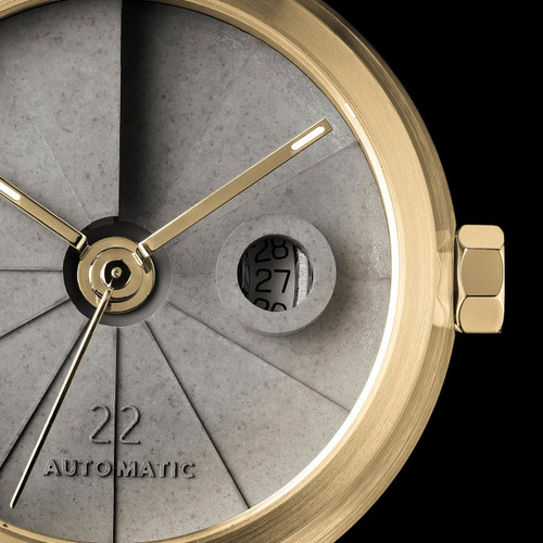 22 Design 4th Dimension Concrete Automatic Minimal Brass (CMW01S02)