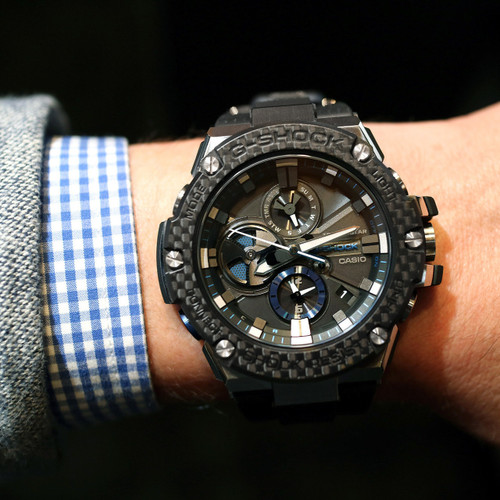 G Shock G Steel Carbon Fiber Bezel Watches Com