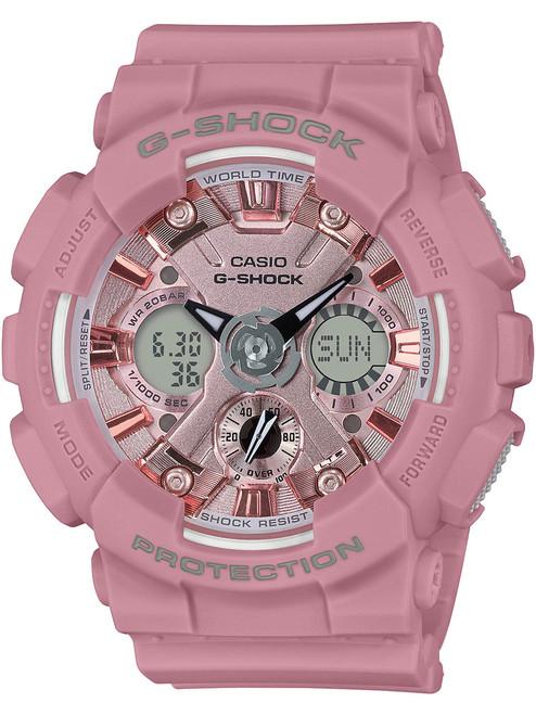 G-Shock S-Series Ana-Digi Pink (GMAS120DP-4A) front