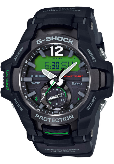 G-Shock GR-B100 Gravitymaster Connected Solar Black Green (GRB100-1A3)
