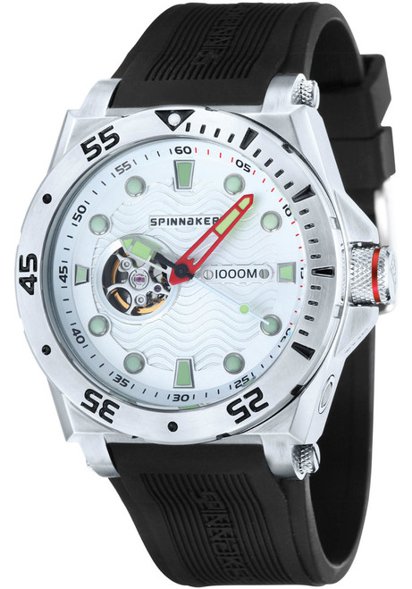 Spinnaker Overboard 1000M Automatic Black Silver (SP-5023-0D)