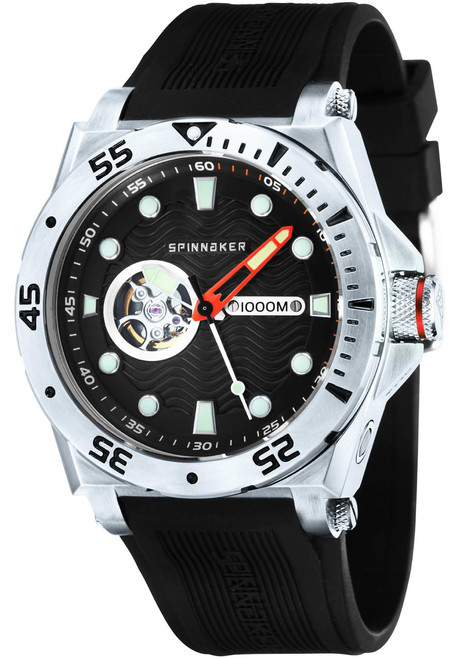 Spinnaker Overboard 1000M Automatic Black Red Silver (SP-5023-0C)