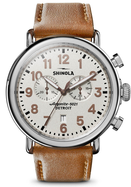 Shinola Statue of Liberty 47mm Chrono Limited Edition Brown (S0120109228)