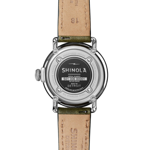 Shinola Runwell Coin Edge 38mm Spruce (S0120109232)