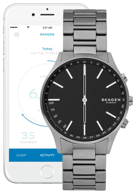 Skagen Hybrid Smartwatch Holst Dark Gray Titanium Watches Com