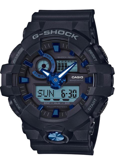 G-Shock GA-710 Anadigi Black Navy (GA710B-1A2)