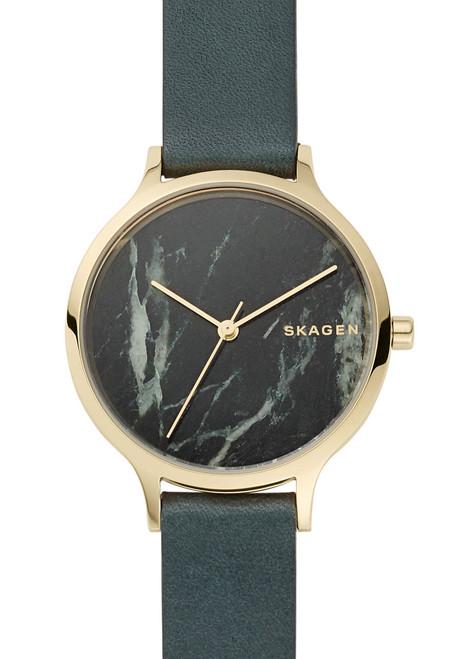 Skagen Anita Green Leather Stone (SKW2720)