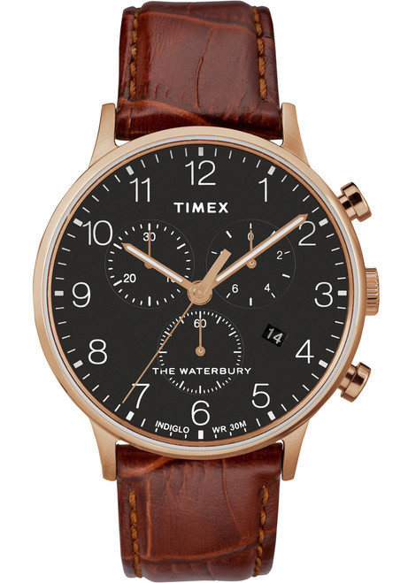 Timex Waterbury Classic Chrono Rose Gold Brown (TW2R71600)
