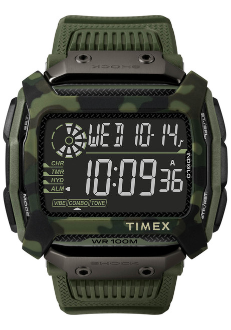 Timex Command Shock Digital Green Camo (TW5M20400)