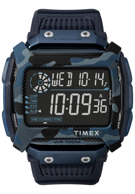 Timex Command Shock Digital Blue Camo (TW5M20500)