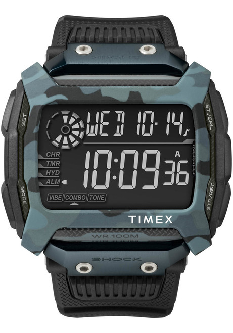 Timex Command Shock Digital Black Blue Camo (TW5M18200)