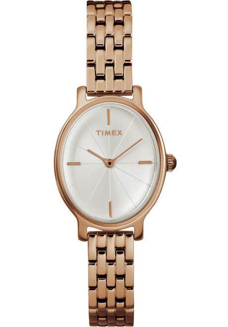 Timex Milano Oval 24MM Rose Gold SS (TW2R94000)