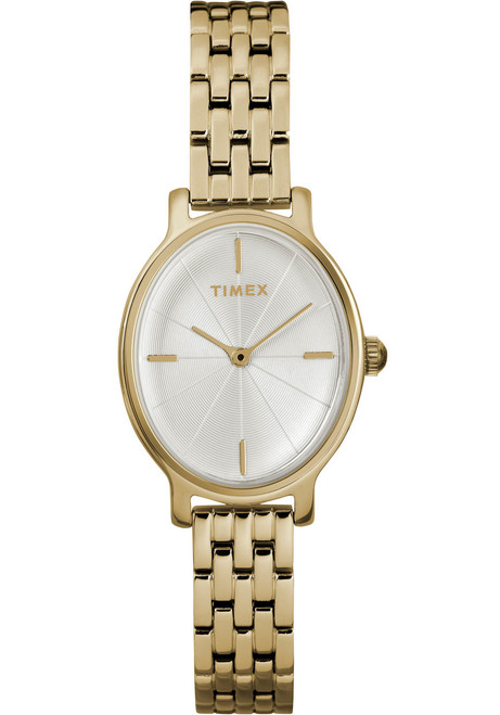 Timex Milano Oval 24MM Gold SS (TW2R94100)