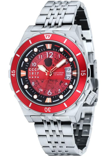 CCCP Aurora Automatic Silver Red (CP-7022-44)