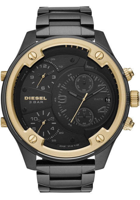 Diesel Boltdown Chrono Black Gold SS (DZ7418)