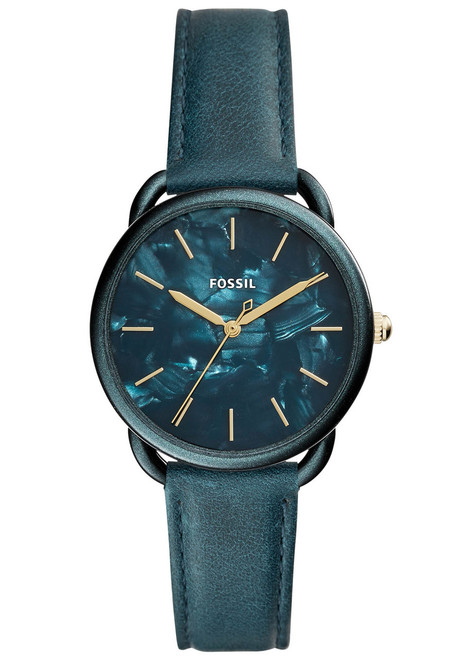 Fossil ES4423 Tailor Teal Green Leather