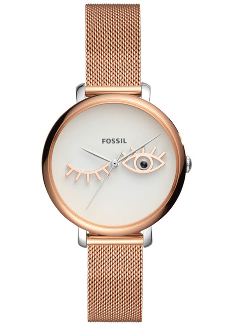 Fossil Jacqueline Wink Eye Rose Gold Stainless Steel (ES4414)