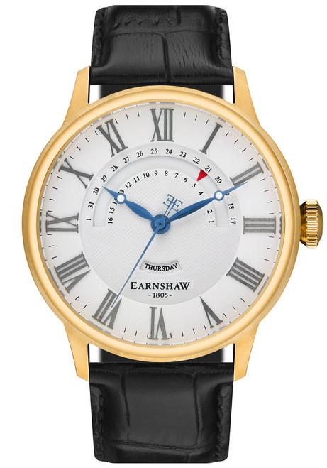 Thomas Earnshaw Cornwall Retrograde Register Day Date Gold Black (ES-8077-03)