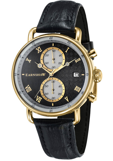 Thomas Earnshaw Investigator Chrono Gold Black (ES-8090-03)