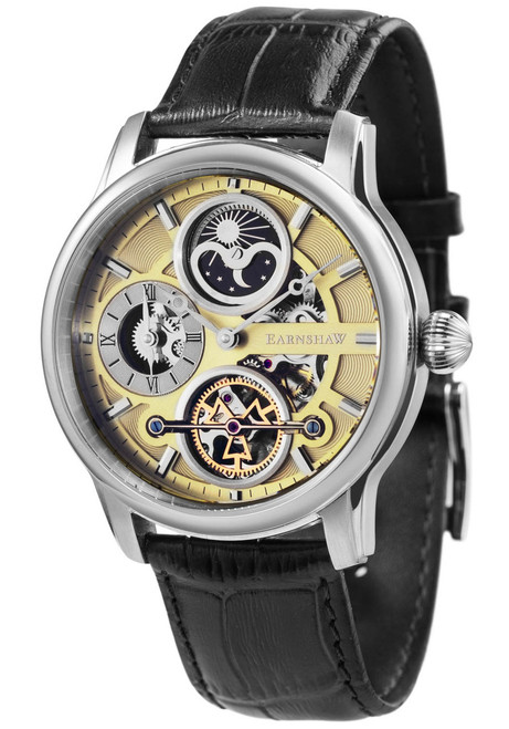 Thomas Earnshaw Longitude Hemisphere Automatic Silver Black (ES-8087-01)