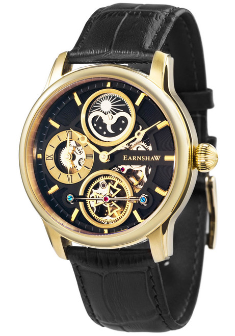 Thomas Earnshaw Longitude Hemisphere Automatic Gold Black (ES-8087-02)