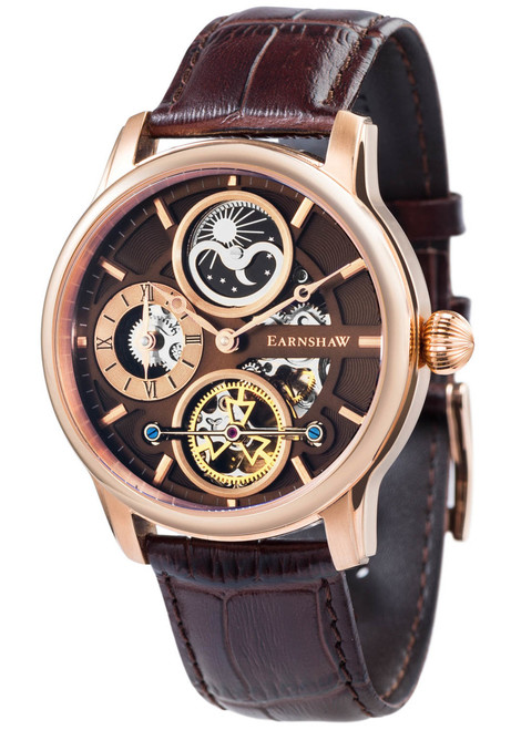 Thomas Earnshaw Longitude Hemisphere Automatic Rose Gold Brown (ES-8087-04)