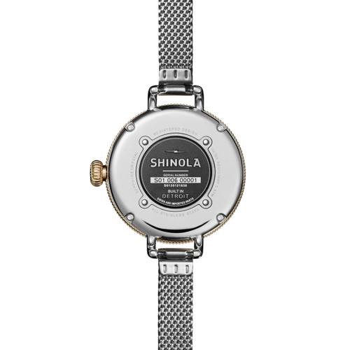 Shinola Birdy 34mm Silver Gold Mesh (S0120121838)