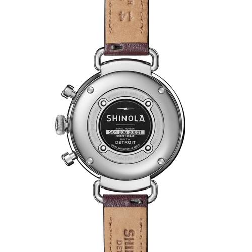 Shinola Canfield Chrono 38mm Purple Mother of Pearl