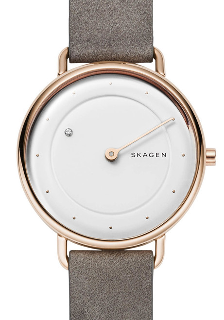 Skagen Horisont Special Edition Genuine Diamond Rose Gold Gray (SKW2739)