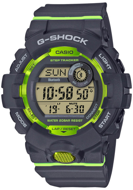 G-Shock GBD800 Bluetooth Activity Tracker Gray Green (GBD800-8)