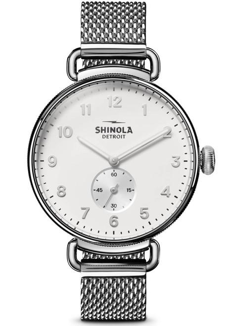 Shinola Canfield 38mm Silver Mesh (S0120121833)